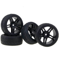 Wholesale Rc Tyres - RC HSP For 1:10 On-Road Racing Car 905B-6086 Plastic Wheel Rims & Tires Tyre