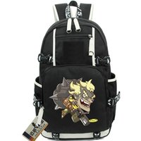 Wholesale Backpack Pictures - Cool JunkRat backpack Fight picture school bag Jamison Fawkes daypack Game schoolbag Outdoor rucksack Sport day pack