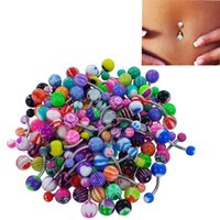 Wholesale Heart Belly - New Fashion Stainless Steel Navel Piercing Tongue Rings For Women Men Body Jewelry Belly Rings Lip Piercing Bar Ring Ear Studs Wholesale