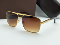 Wholesale square sunglasses - new fashion classic sunglasses attitude sunglasses gold frame square metal frame vintage style outdoor design classical model