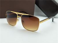concevoir des lunettes de soleil achat en gros de-Nouvelle mode classique lunettes de soleil attitude lunettes de soleil or cadre carré métal cadre style vintage design extérieur classique modèle 0259