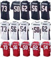 Wholesale Hannah S - custom Jerseys Men's #73 John Hannah 50 Rob Ninkovich 62 Joe Thuney 56 Andre Tippett 54 Dont'a Hightower stitching elite Jersey