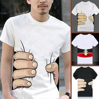 Wholesale bones tee shirts - 2016 Summer Fashion Men's t-shirt Men Short Sleeve Cotton 3D Big Hand Bone Cool fashion casual O-neck Top Tees For Men