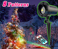 Wholesale Outdoor Star Elf Light Laser Shower Projector Motion Christmas Theme Pattern Holiday Decorative Lights Red Green With Remote