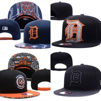 Wholesale Wholesale Tiger Hats - Wholesales Detroit Tigers Baseball Cap Embroidered Team logo Fitted Cap Sport Fit Hats Colorfull Free Shipping