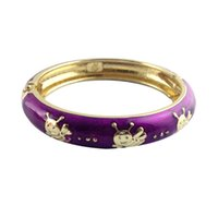 Wholesale Enamel Cloisonne Bracelet Bangle - honybee bangles cartoon animal design bracelet for baby kids cute bangles unique accessories best children gift K004D