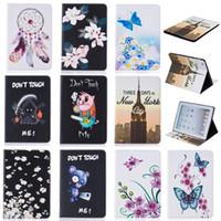 housses pour ipad mini cuir bleu achat en gros de-Etui pour tablette Pour iPad 2 3 4 5 6 iPad Mini 4 Couverture Portefeuille Étui en cuir avec fentes pour cartes Butterfly Blue Bear