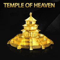 Wholesale Temple Heaven Puzzle - Metallic Temple of Heaven DIY 3D Puzzle Three-dimensional Finger Rock Man-made Metal Jigsaws Kids Adult Toys Gifts