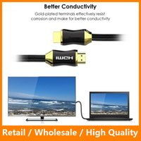 Wholesale High Speed HDMI Cable HDMI Male to Male Cable with Nylon Case Metal Adapter P K for Macbook Computer TV