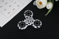 Wholesale Orange Tip - 2017 New EDC Camo Fidget Spinner decompression anxiety toys Plating 4 colors Hand Spinner Finger Tip Rotation anxiety HandSpinner