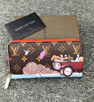 Wholesale Wedding Box Card Holders - 30 free shipping high quality louis new wallet Key bag Card pack Key ring purse Coin Purse COIN POUCH KEY HOLDERS 2018 with box