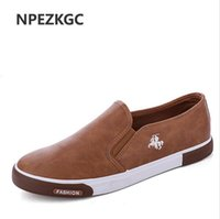 Wholesale Mens Casual Shoes Low Price - Hot Sale Low price Mens Breathable High Quality Casual Shoes PU Leather Casual Shoes Slip On men Fashion Flats Loafer