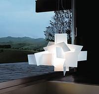 büyük tavan lambası led toptan satış-D65cm / 95 cm Modern Foscarini Big Bang İstifleme Yaratıcı Modern Avize Aydınlatma Sanat Pandant Lamba Tavan LED 90-260 V Çoğaltma