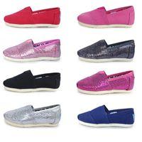 Wholesale Wholesale Kids Hot Shoes - Children Canvas Shoes Girls Boys Shoes Free Shipping 2017 Hot Sale EVA Flat Shoe Athletic Breathable Kids Glitter Sneaker Shoe b1315