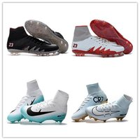 Wholesale New Winter - 2017 New Football Shoes Mercurial Superfly FG Men Cleats High Quality Soccer Boots Original Discount Striped Sports Shoes Size 6.5-12