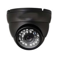 cámara de noche de día interior al por mayor-Cámara domo analógica HD 1000TVL cámara de seguridad de vigilancia día visión nocturna 24 IR Leds cámara gran angular de 3,6 mm lente metal video CCTV