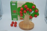 Wholesale Tree Apple Wooden Magnetic - Wholesale- Montessori Educational Wooden Toys Magnetic Apple Tree Baby Toy Early Childhood Preschool Training