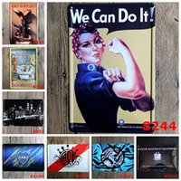 decorative sign sports bar decorations - We can do it Golf CABJ sport Vintage Craft Tin Sign Retro Metal Painting Poster Bar Pub Signs Wall Art Sticker