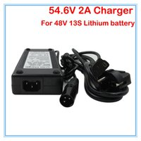 Wholesale E Bike Bicycle - Great quality 54.6V 2A Li ion Battery charger 48V 2A XLRM Socket connector for 48V 13S Lithium e bike bicycle bike battery Charger
