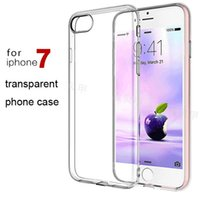 Wholesale For iphone plus iphone plus cell phone case TPU thin transparent clear color protective silicone soft cover