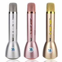 Wholesale Pcs Song - 1 pcs K088 Magic Karaoke Microphone K Song Portable Wireless Bluetooth Microphone With Bluetooth Speaker Power Bank Outdoor KTV