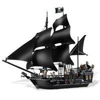 Wholesale Toy Black Pearl Ship - Lepin 16006 804pcs Pirates of the Caribbean Black Pearl Dead Ship model Builidng Blocks Children toys Bricks CompatibleLeg