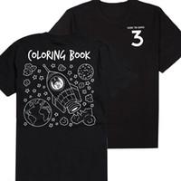Wholesale Wholesale Book Bands - Wholesale- 2017 Fashion Chance The Rapper Hip Hop Acid Rap Coloring Book Print Tshirt Mens T shirt Rock Music Band T-Shirt