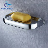 Wholesale Retail Dish - Free Shipping Wholesale And Retail Promotion Modern Wall Mounted Chrome Brass Square Soap Dishes Bathroom Soap Dish Holder