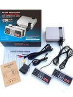 Wholesale Handheld Game Dhl - 2 PCS Free DHL nes Classic Console Mini TV Handheld Game Console Video arcade games for video game player with 500 600 620 Built-in Games