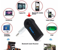 Wholesale apple a2dp - Car Audio Receiver Universal 3.5mm Streaming Car A2DP Wireless Bluetooth AUX Audio Music Receiver Adapter Handsfree with Mic Phone MP3