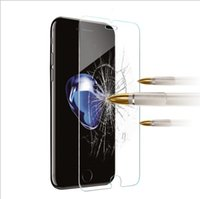 Wholesale Iphone 4s Transparent Glass - For Iphone X 8 7 7Plus 6 6S 6+ Plus 5 5S 5SE 5C 4 4S 9H 0.26mm 2.5D Clear Transparent Tempered Glass anti shock screen protector