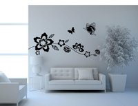 Wholesale self sat - 9036 Ivy Vine Butterflies Sitting Room Bedroom Wall Decals Background Wallpaper Customized Wholesale Water to Remove