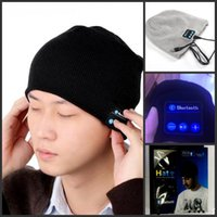 Wholesale Dome Wireless - Bluetooth Hat Warm Hat Mini Wireless Speaker Bluetooth Receiver Audio Music Speaker Bluetooth Hat Cap Headset Headphone