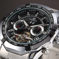 Wholesale Automatic Mechanical Skeleton - 2016 New Series Forsining Tourbillon Design Clock Men Automatic Watch Skeleton Military Watch Mechanical Relogio Male Erkek Saat