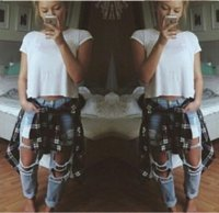Wholesale 2017 Hot Selling Womens Blue Skinny Ripped Jeans Low Rise Vintage Fashion Slim Fit Distressed Best Denim Jeans For Women