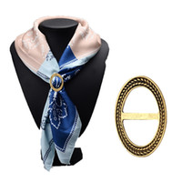 Wholesale Scarf Clasps - Wholesale- 2016 Fashion Scarf Clasp Buckle Brass Bronze Plated Scarf Jewelry Pendants Scarf Clips Brooch Pins for Women Girls Gifts