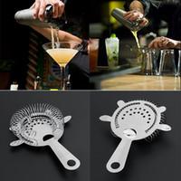 kit cocktail barman venda por atacado-Barman Coqueteleira Shaker Bar Strainer Kit Barware Ferramentas de Malha De Gelo Coador Bar Cocktail Coador Cocktail Martini Beber