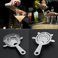 Wholesale icing tool kit - Bartender Cocktail Shaker Bar Strainer Kit Barware Tools Ice Mesh Strainer Bar Percolator Colander Cocktail Martini Drinking