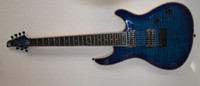 Wholesale Gem Guitars - High quality Mayones electric guitar 7 strings fitted nationalisation ebony fingerplate tiger blue gem with free shipping
