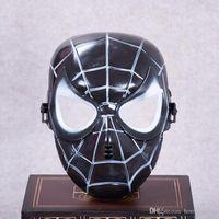rote spiderman masken großhandel-Spiderman Maske Rot Schwarz Spiderman Superheld Für Kinder Maske Masquerady Halloween Cosplay Masken Kunden Make-Up Party Neuheit Maske