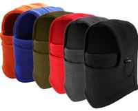 Wholesale Adjustable Skull Face Mask - winter warm Fleece beanies hats for men skull bandana neck warmer balaclava ski snowboard face mask Thickening catch balaclavas free shippin