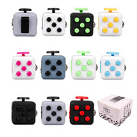 Wholesale Desk For School - Fidget Cube Clicker Anti Irritability Dice Desk Toys For Adults School Prime Children Cheap Novelty Cubes Toys Spin Roll Glide