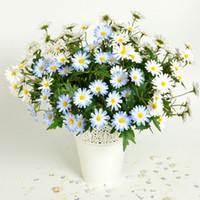 margaridas flor tecido venda por atacado-100% de alta qualidade artificial margarida flores decorativas tecido pequeno Chrysanthemum Buquê Daisy à beira da seda cachos de flores