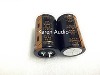 Wholesale Audio Electrolytic Capacitors - Free shipping 4pcs ELNA LAO FOR AUDIO 63V 10000UF 30X50MM black gold 85 degree centigrade NEW Electrolytic Capacitor 10000uf63v Power filter