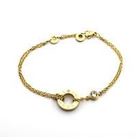 joyería de amor fresco al por mayor-Pulseras de oro rosa de moda simple Punk Love brazaletes pulseras para mujeres hombres pareja joyería fresca