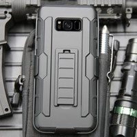 Wholesale galaxy s4 clip - 3 in 1 Rugged Shockproof Armor Case +Belt Clip Holster Kickstand Cover For iPhone 8 6 6Plus 7  Samsung Galaxy S4 S5 S6