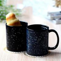 Wholesale Blue Ceramic Mugs - Color Change Mug Ceramics Twelve Constellations Colors Cup Coffee Mugs Teacup Magic Heat Resistant Cup As Birthday Present 9hf R