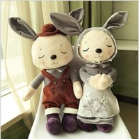 Wholesale Children s Metoo Plush Dolls Rabbit Little Bunny Plush Toys Kids Girls Boys Lovely Stuffed Animals Bunny Rabbits Toys Babies Birthday Gifts