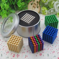 Wholesale Magic cubes Colors Option mm Neo Cube Magic Puzzle Metaballs Magnetic Ball With Metal Box Magnet Colorfull Magic Toys