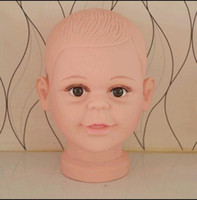 Wholesale Head For Mannequin - Freeshipping wholesale PVC Realistic Plastic Baby kid children Mannequin Dummy Head For Wig Hat Sunglass Display head Mannequin 1PC B617